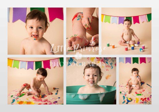 Paint splash collage