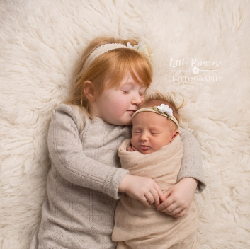 Newborn photography Sibling portrait