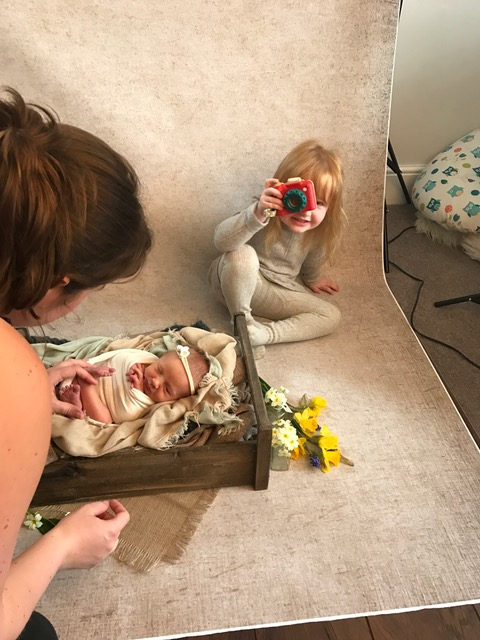 Newborn photography Sandbach, behind the scenes.