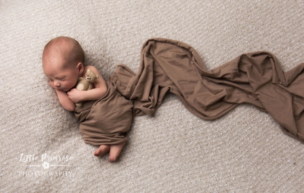 Newborn photography Cheshire - Baby with teddy