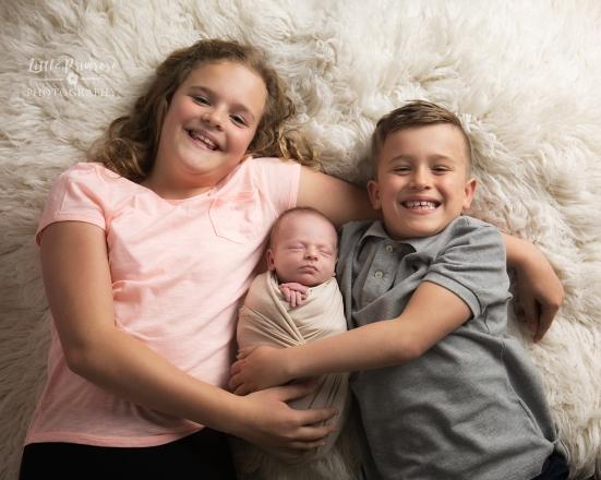 Newborn photography alsager sibling shots