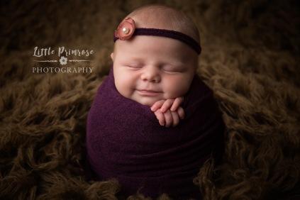 newborn baby photographer - Sandbach, Cheshire - purple baby girl