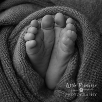 Baby feet wrapped
